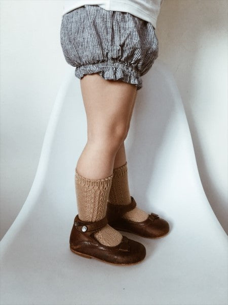 CONDOR Knee High Lace Sock CAMEL