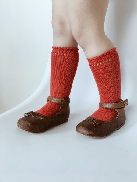 CONDOR Knee High Lace Sock ROJO RED