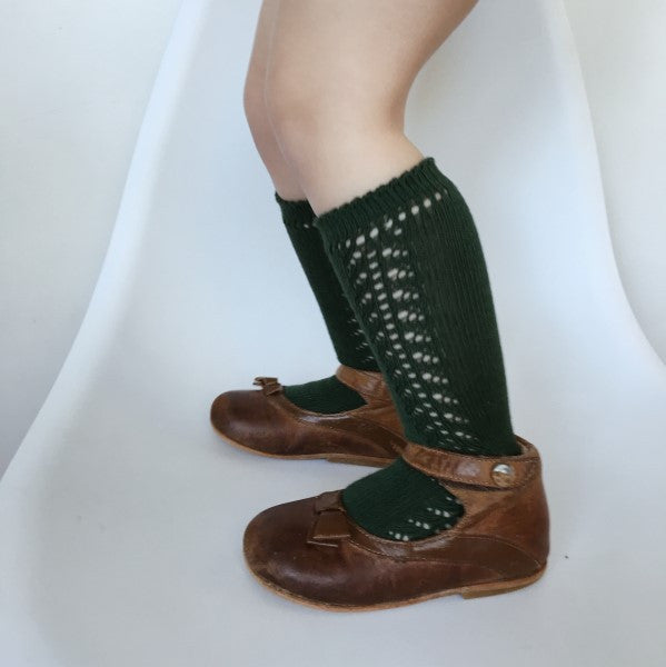 CONDOR Knee High Lace Sock BOTELLA GREEN