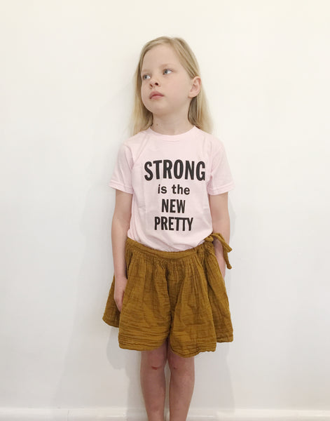THE BEE & THE FOX ~ STRONG IS THE NEW PRETTY PALE PINK sizes 2 - 8 yrs