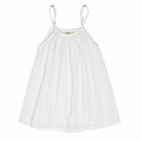 Numero 74 GIRLS Mia Dress in White Mabels Garb Australia Ethical Handmade Muslin Guaze