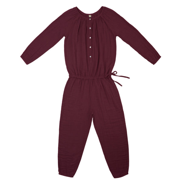 Numero 74 Naia mum women jumpsuit RED MACAROON Mabel's Garb Ethical Clothing Australia