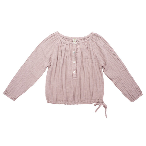 Numero 74 GIRLS Naia Top Dusty Pink Mabels garb Australia Ethical Handmade
