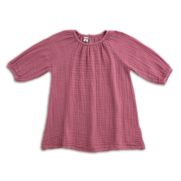 Numero 74 Girls Nina Dress in Baobab Rose Ethical Mabel's Garb Australia