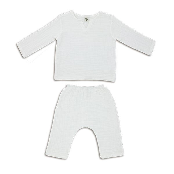Numero 74 Zac Top & Pants Lounge Suit in White