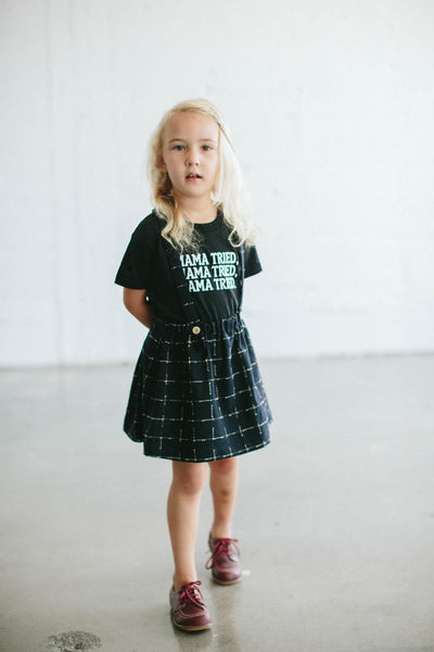 the bee and the fox co. slogan tee lMAMA TRIED BLACK mabels garb australia