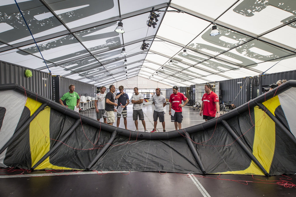 Team meeting at the Volvo Ocean Race boatyard