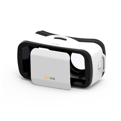 LEJI VR Box Mini - Virtual Reality Glasses 3D VR Headset VR Goggle Helmet Cardboard 2.0 2 3 for iPhone 6S Plus 4.7-5.5 Inches Android Smartphone