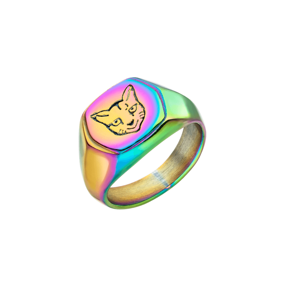 PURELEI 'Cat' Ring Rainbow