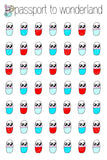 Pills Variety Kawaii Planner Stickers