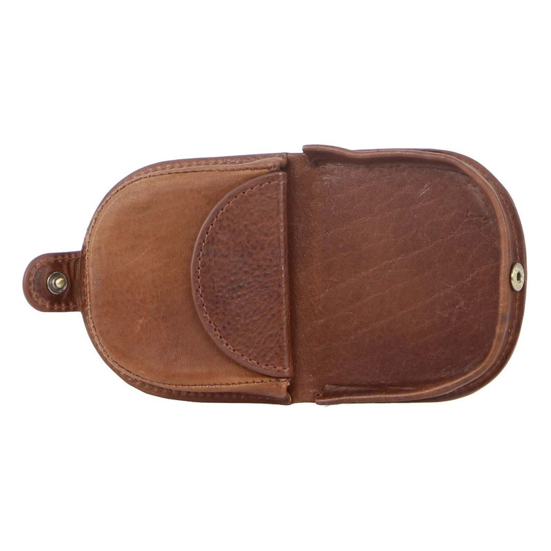 PIERRE CARDIN ITALIAN LEATHER COIN PURSE (PC10315) - COGNAC-Coin Pouch-ElegantFemme