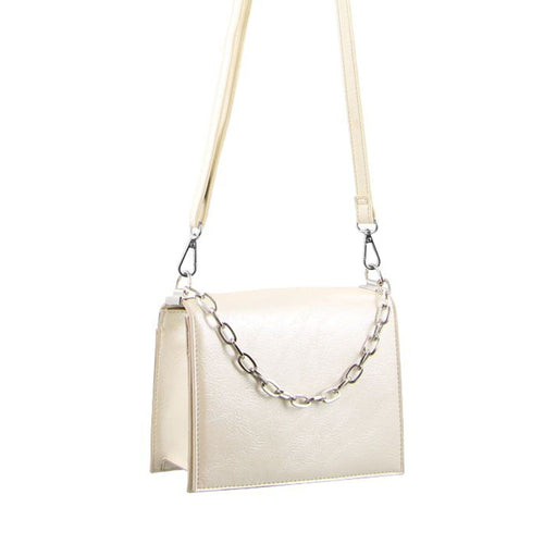 Milleni Elegant Cross-Body Handbag/ Clutch - Beige-Crossbody Bag-ElegantFemme