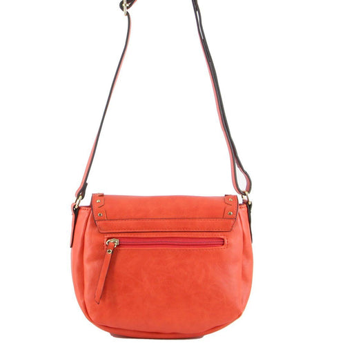 Milleni Ladies Cross-Body Bag (PV 2190) - PAPAYA-Crossbody Bag-ElegantFemme
