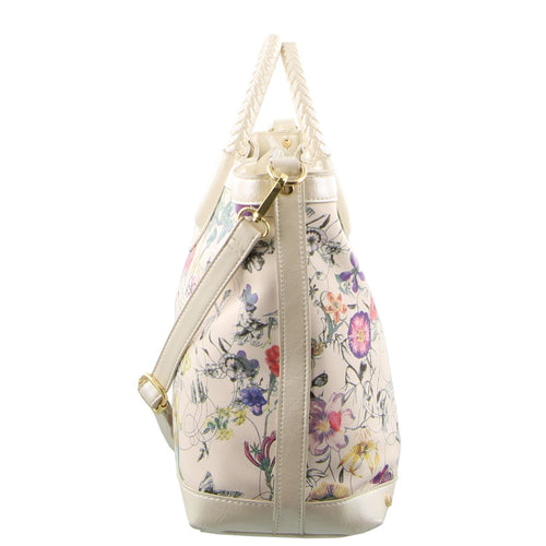 Milleni Ladies Floral Shopper Tote (FB2916)-Handbag-ElegantFemme