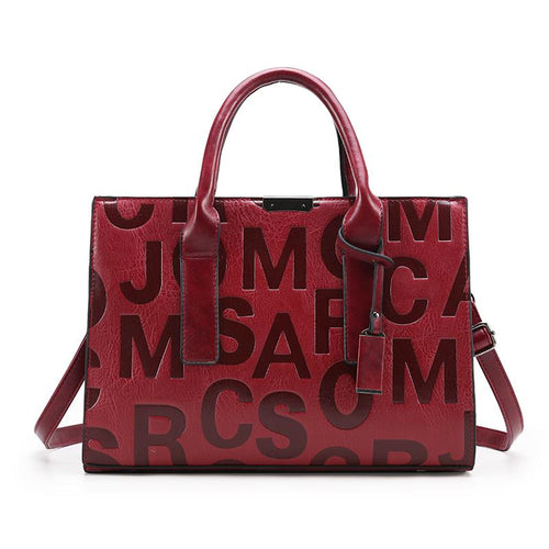 Red MJ Style Satchel Bag-Handbag-ElegantFemme