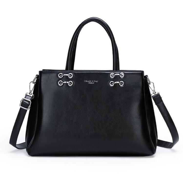 RS Satchel Bag - Black-Handbag-ElegantFemme