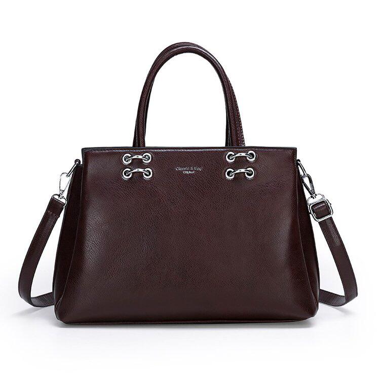 RS Satchel Bag - Brown-Handbag-ElegantFemme
