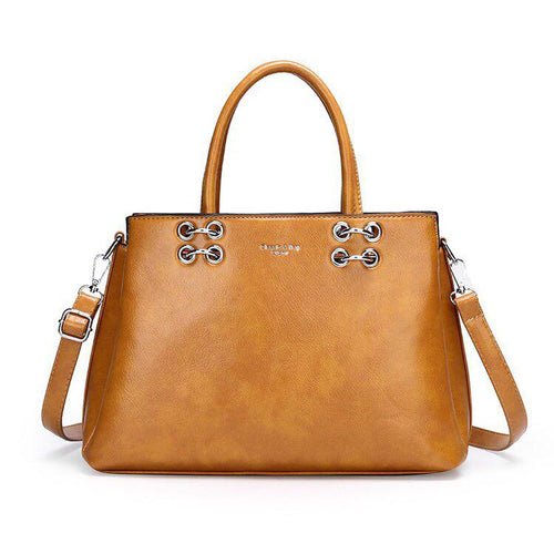 RS Satchel Bag - Yellow-Handbag-ElegantFemme