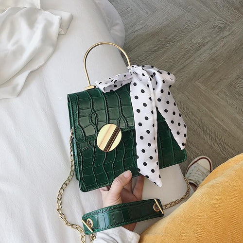 Sophia Shoulder Purse - Green-Handbag-ElegantFemme