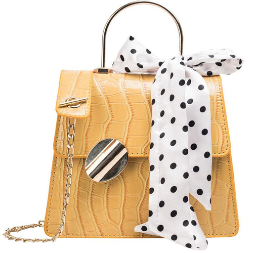Sophia Shoulder Purse - Yellow-Handbag-ElegantFemme