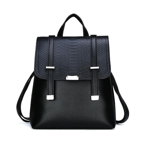 The Bardot Backpack - Black-Handbag-ElegantFemme