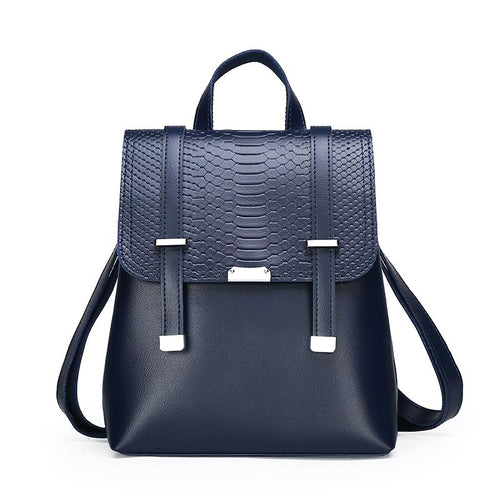 The Bardot Backpack - Blue-Handbag-ElegantFemme