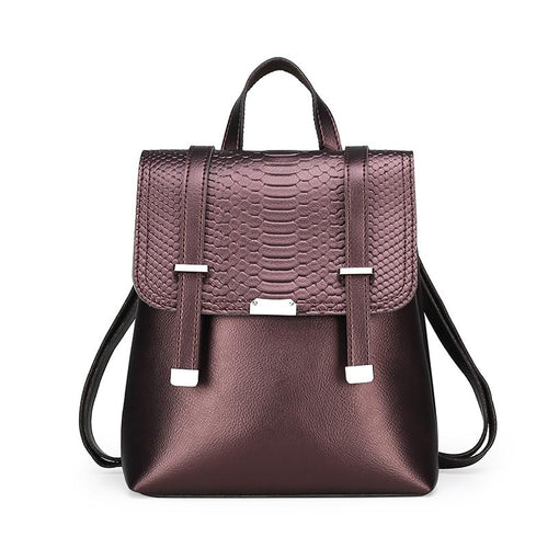 The Bardot Backpack - Brown-Handbag-ElegantFemme