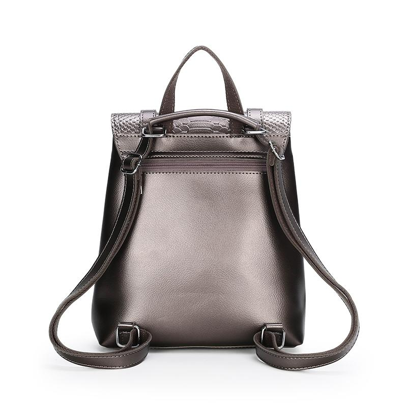 The Bardot Backpack - Grey-Handbag-ElegantFemme