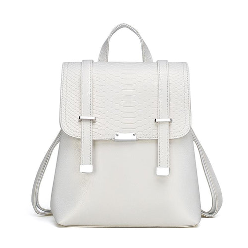 The Bardot Backpack - White-Handbag-ElegantFemme