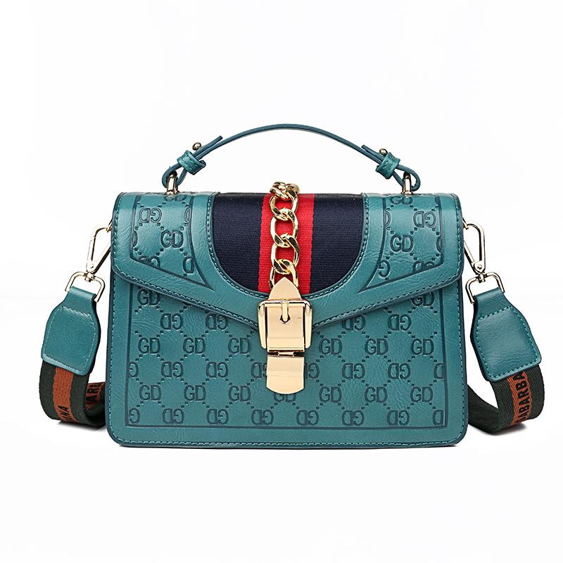 The Ella Cross Body Bag in Green-Handbag-ElegantFemme