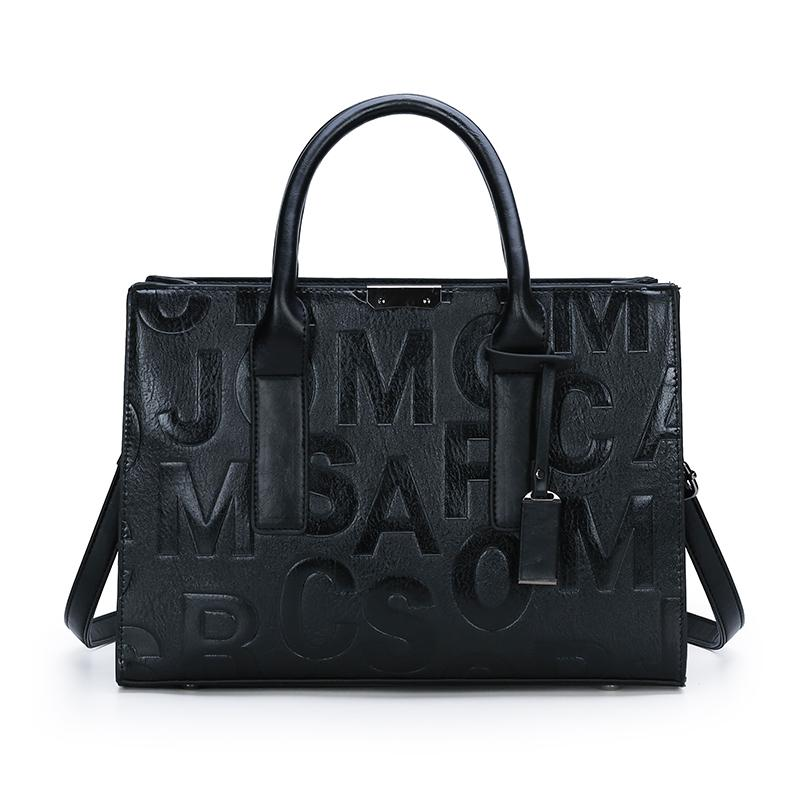 The Miranda Satchel Bag in Black-Handbag-ElegantFemme