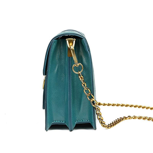 The Vita Cross Body Bag - Green-Handbag-ElegantFemme