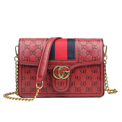 The Vita Cross Body Bag - Red-Handbag-ElegantFemme