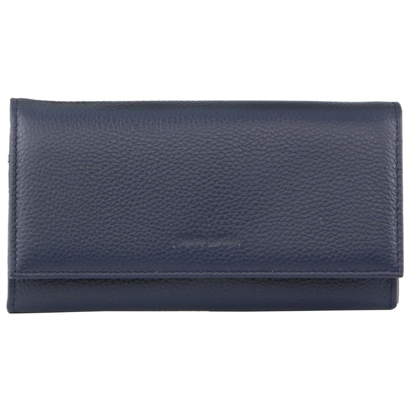 PIERRE CARDIN RUSTIC LEATHER LADIES WALLET (PC8785) - NAVY-Ladies Wallet-ElegantFemme