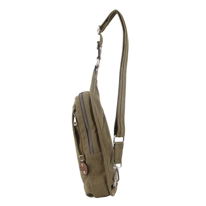 PIERRE CARDIN CANVAS CROSS BODY BAG (PC3271) - Green-Men's Crossbody Bag-ElegantFemme