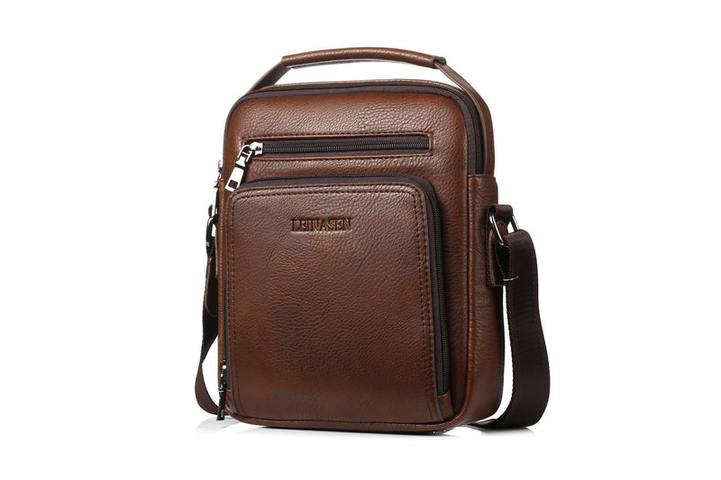 Men's Travel Shoulder Bag - Brown (18062)-Men's Shoulder Bag-ElegantFemme