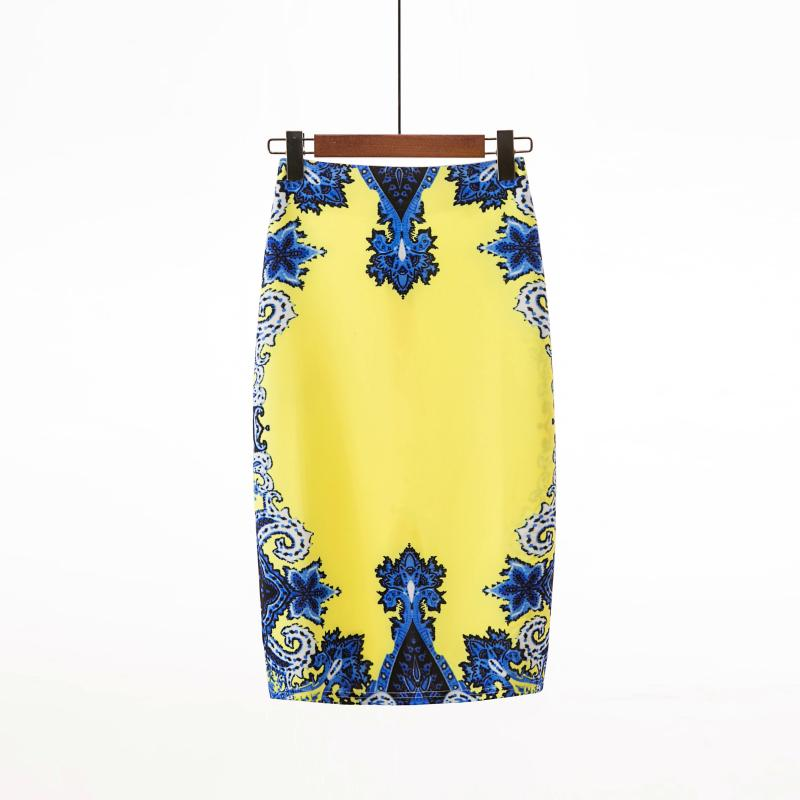 Straight Printed Tube Skirt - Mantra-Skirt-ElegantFemme