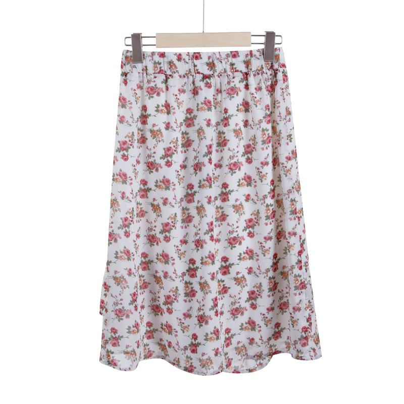 The Marley Floral Wrap Skirt - Rose-Skirt-ElegantFemme