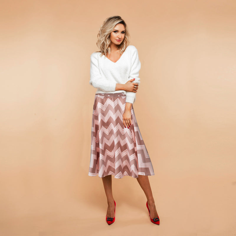 The Wanderer Midi Skirt - Frequency-Skirt-ElegantFemme