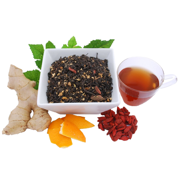 Ginger Pu erh Organic Loose Leaf Tea