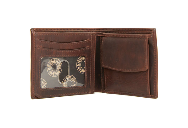 Hicks & Hide 12 Bore Leather Wallet-Brown