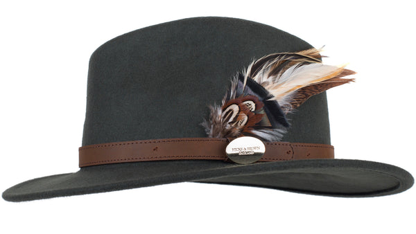 Hicks & Brown The Suffolk Fedora in Olive (Game bird)