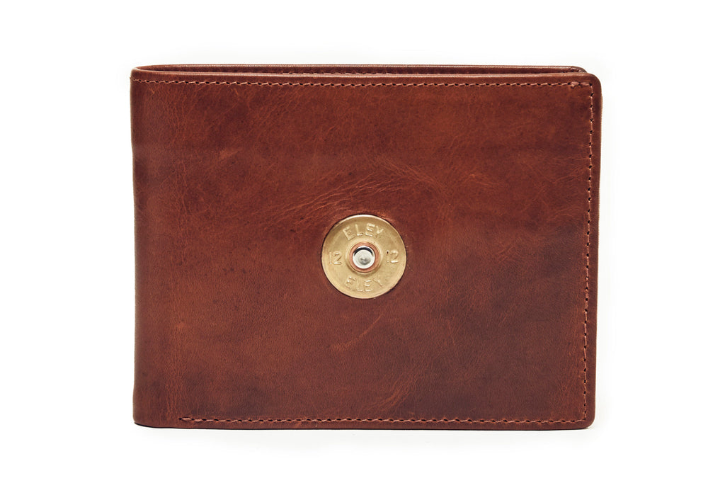 Hicks & Hide 12 Bore Leather Wallet-Cognac