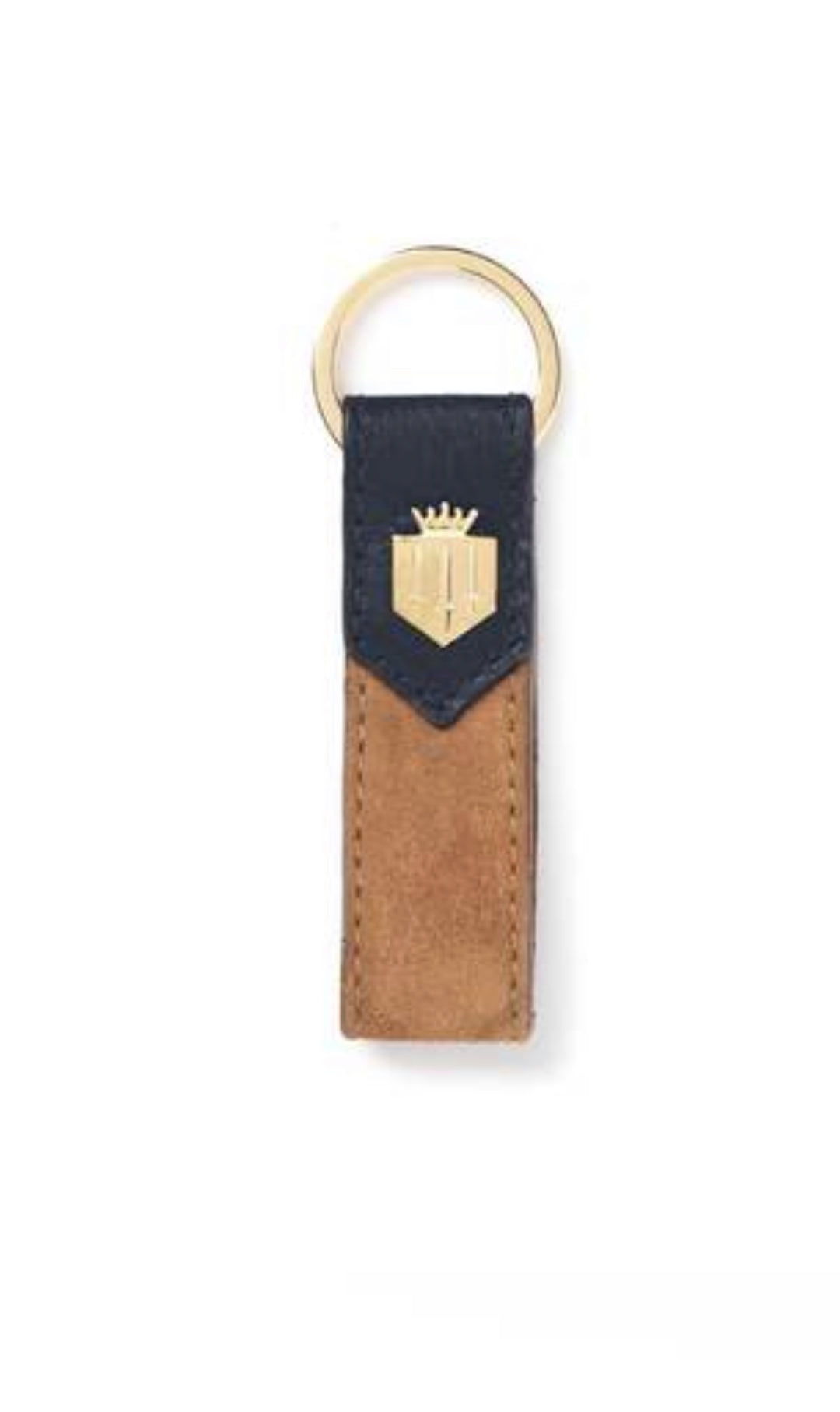 Fairfax & Favor Keyring - Navy / Tan