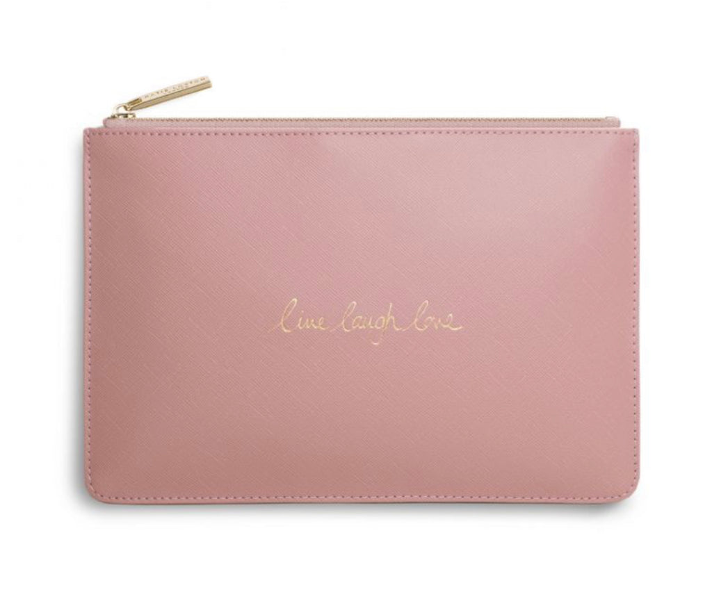 Katie Loxton Perfect Pouch Bag-'Live, Laugh, Love' -Pink