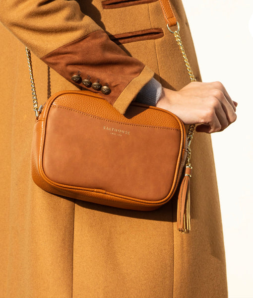 Adira Cross Body Bag Tempting Toffee by Salthouse