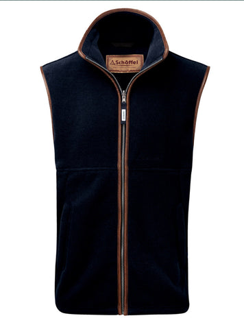 Oakham Fleece Gilet - Navy by Schoffel