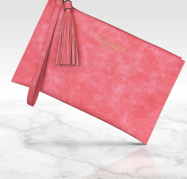 Salthouse Serafina Clutch Bag - Coral Candy