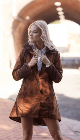 Welligogs Odette Cinnamon Waterproof Coat