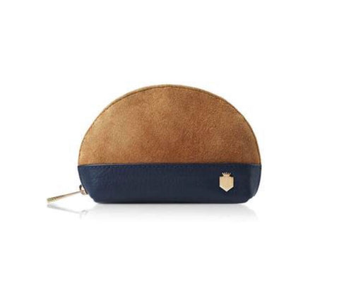 Fairfax & Favor Chiltern Coin Purse Navy / Tan